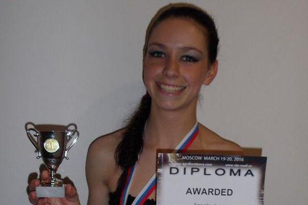 La Gardoise Anaëlle Jean a été sacrée championne d'Europe de danse jazz à Moscou - 20 mars 2016