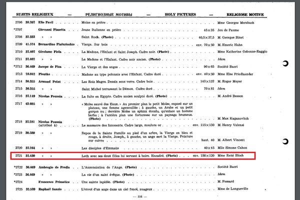 Mention du tableau dans le repertoire des biens spoliés publié en 1947.