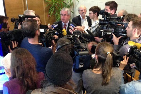 Philippe Richert devant la presse lundi matin