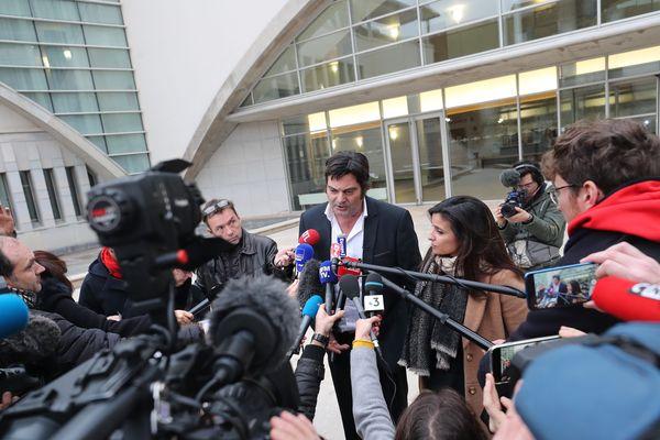 Me Randall Schwerdorffer et Me Ornella Spatafora, les avocats de Jonathann Daval rencontrent la presse à l'issue de la confrontation.
