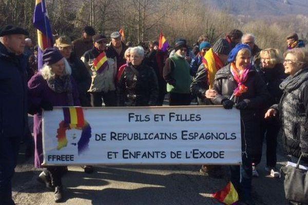 Saint-Laurent-de-Cerdans, dans les Pyrénées-Orientales, célèbre la Retirada des réfugiés espagnols - 24 février 2017