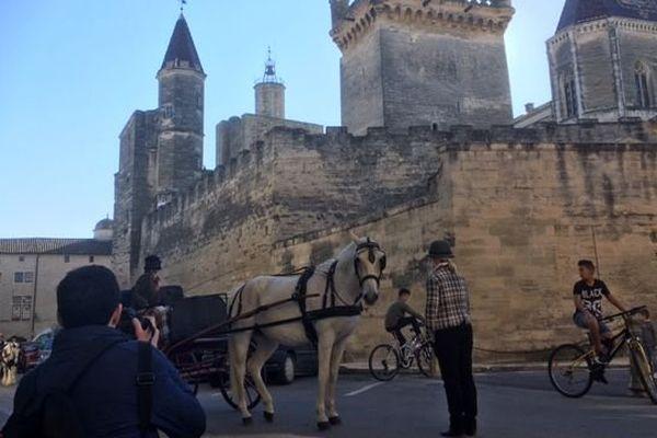 L'attelage de tradition à l'honneur en plein centre-ville d'Uzès, dans le Gard - 29 octobre 2016