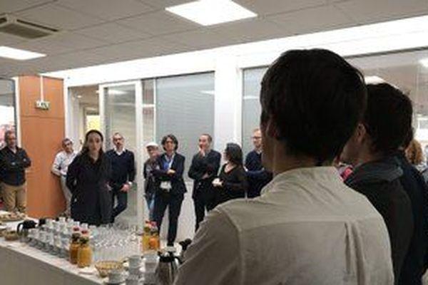 Rencontre entre Delphine Ernotte et le personnel de France 3 à Poitiers