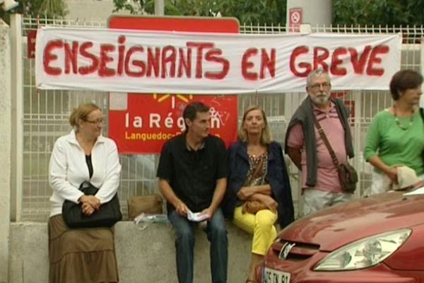 Sète (Hérault) - grève des formateurs au CFA - 10 septembre 2012