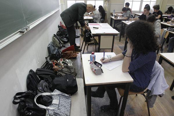Epreuve du bac dans un lycée (photo d'illustration)