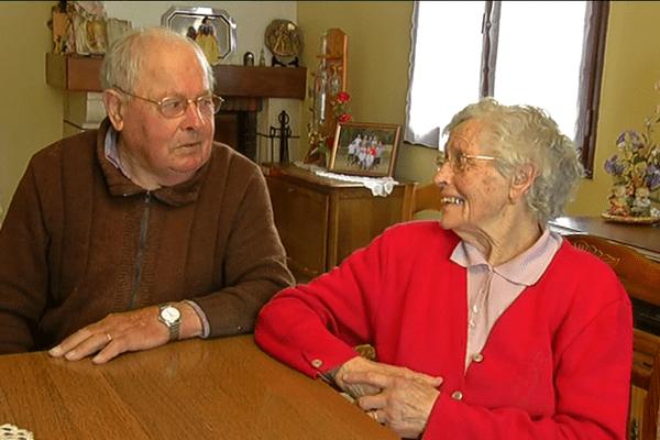 Madeleine et Francis, bientôt 70 ans de mariage à Landemont dans le Maine-et-Loire