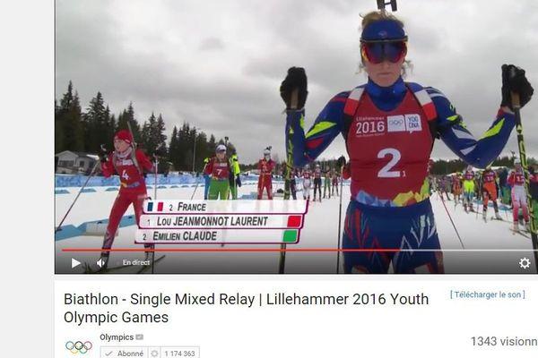 Emilien Claude skiait avec Lou Jeanmonnot Laurent.