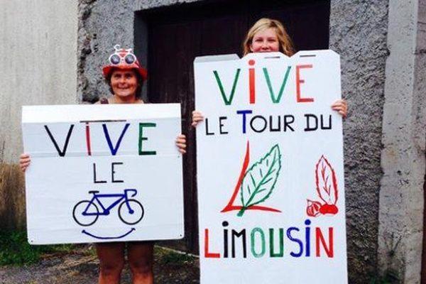 Des mordues de la petite reine en bord de route sur le Tour du Limousin