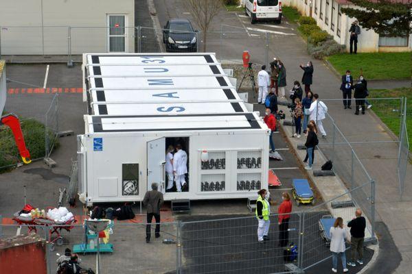 L'hôpital mobile de Toulouse présenté dans la cité rose et déployé à Bayonne. Opérationnel dès ce mardi 10 novembre