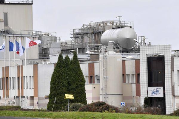 L'usine de poudre de lait du groupe Lactalis à Craon (Mayenne)