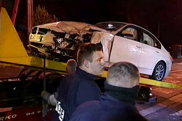 la voiture qui a mortellement percuté le pilote du scooter samedi soir
