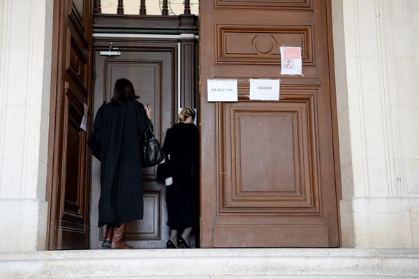 L'entrée de la salle du premier procès de Joël Le Scouarnec - Photo d'illustration