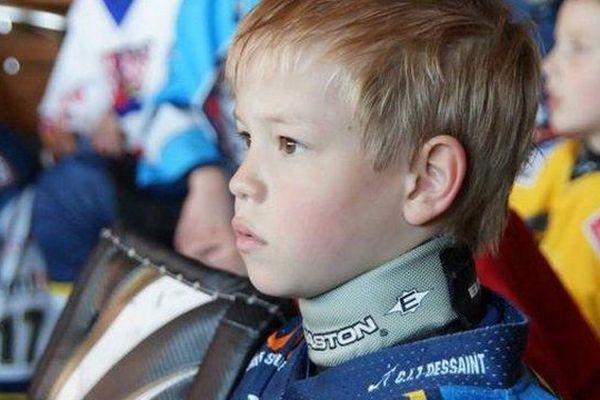 Hugo Vermeersch, 8 ans, était un passionné de hockey sur glace.