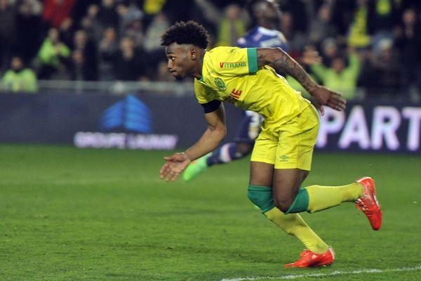 Georges Kevin Nkoudou marque le premier but contre Évian Thonon Gaillard à la Beaujoire le 14 mars 2015