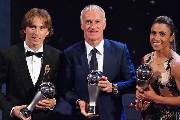 Didier Deschamps élu meilleur entraîneur de l'année 2018, le 24 septembre 2018
