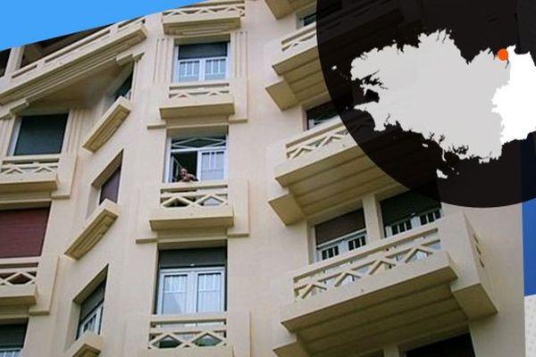 La façade de l'hôtel Le Gallic, bien connu à Dinard