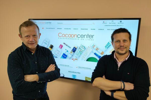 Paul Musset et Stéphane Douesnard (à droite), ont créé Cocooncenter, il y a 15 ans.