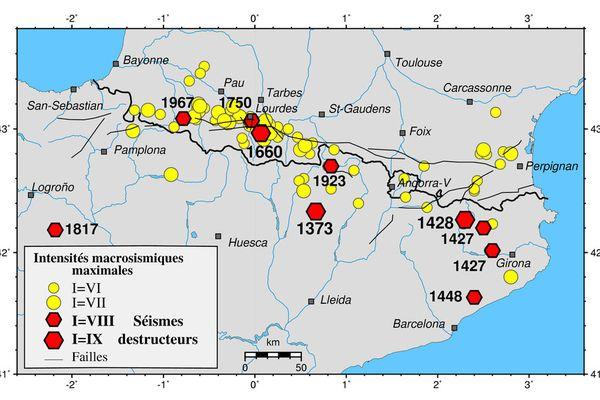 Les séismes ont toujours été nombreux et présents dans les Pyrénées mais rarement destructeurs