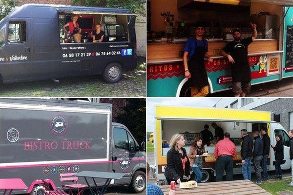 4 des food-trucks qui tournent dans le Nord Pas-de-Calais.