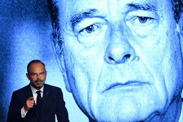 Édouard Philippe évoquant la mémoire de Chirac lors de l'université de rentrée du Modem à Guidel