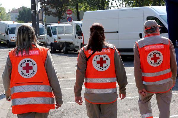 Des membres de la Croix rouge française comme ici à Thionville en septembre 2017.