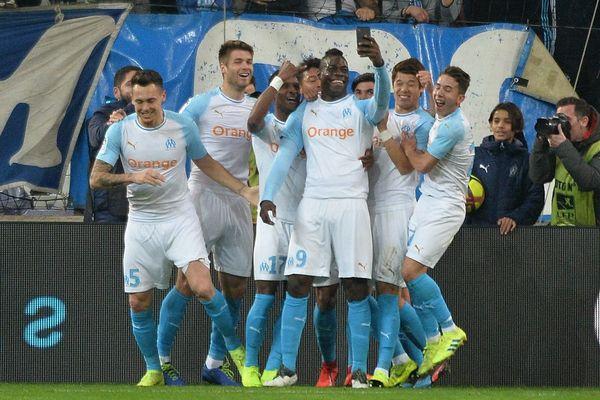 Selfie de Mario Balotelli après le premier but de l'attaquant italien