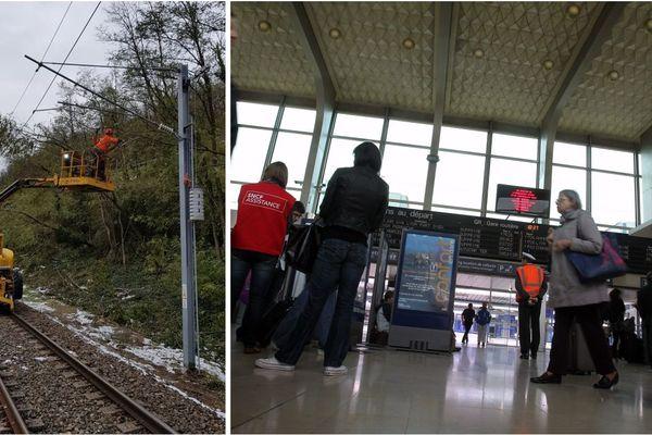La ligne Grenoble-Valence devrait rouvrir ce vendredi après l'épisode neigeux.