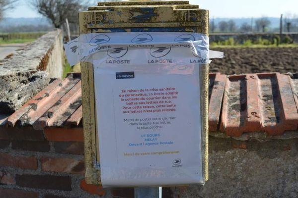 Des boites postales obturées