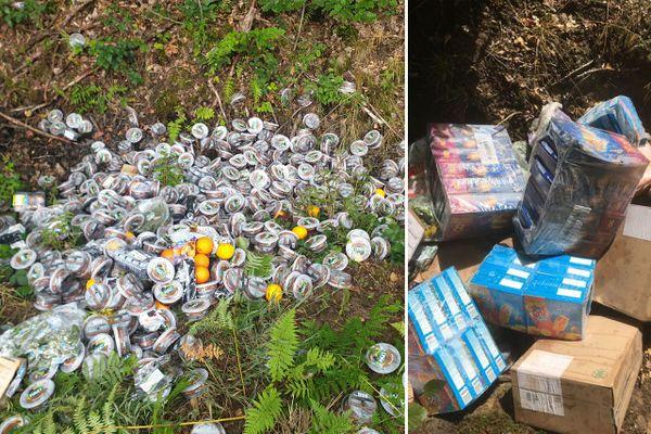 Des centaines d'invendus de Carrefour et Leclerc découverts dans une forêt — Nord