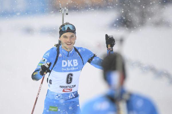Emilien Jacquelin, lors du sprint d'Hochfilzen, jeudi 17 décembre 2020.