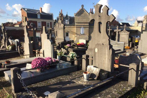 La tombe de Georges Capron, à Arras.