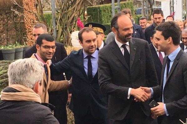 Arrivée du Premier Ministre à Giverny