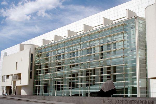 Bâtiment du Musée d'Art contemporain de Barcelone