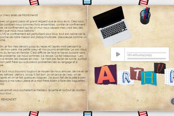 Les élèves peuvent donner individuellement de leurs nouvelles aux résidents