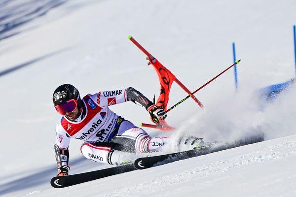 Mathieu Faivre au slalom géant messieurs.