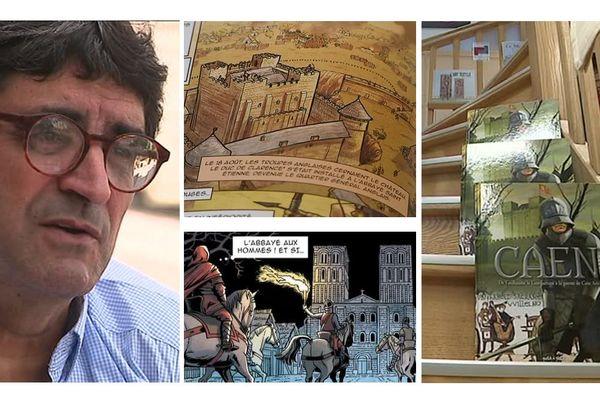 Jean Blaise Djian a écrit le scénario d'une bande dessinée racontant l'histoire de Caen