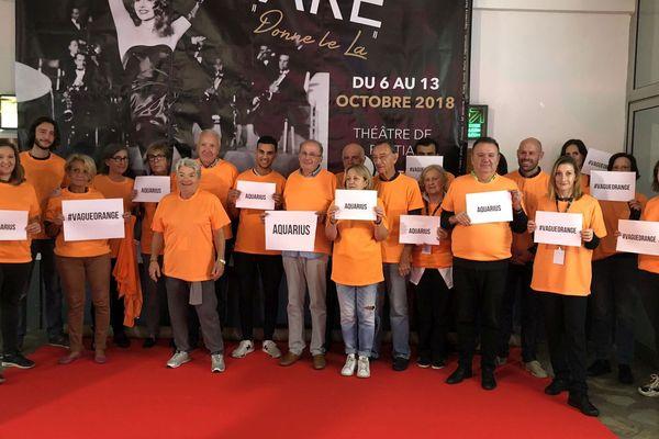 """06/10/2018 - Mobilisation citoyenne en Corse au théâtre de Bastia pour """"sauver l'Aquarius"""" à l'appel de l'ONG SOS Méditerranée"""