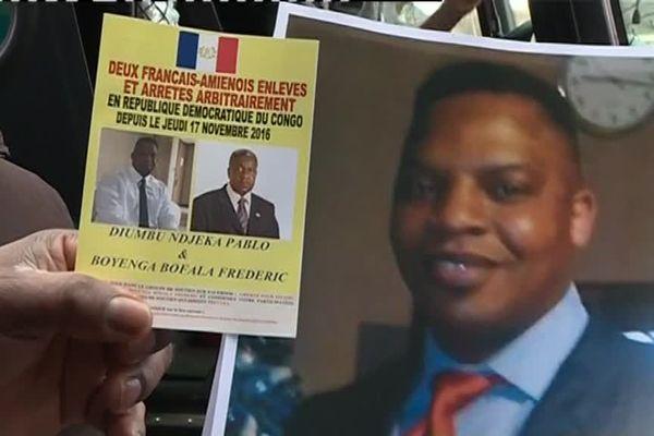 Frédéric Boyenga Bofala, 56 ans, et M. Diumbu-Ndjeka, 38 ans, auraient été enlevés aux alentours du 18 novembre 2016