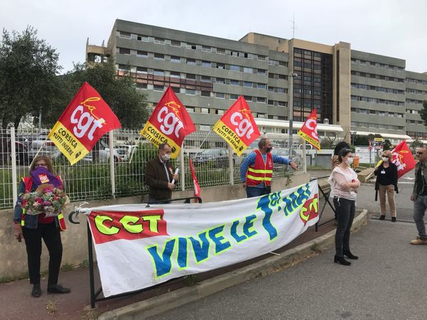 Manifestation du 1er mai 2020 devant le CH Bastia.