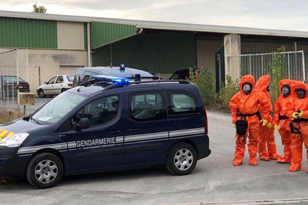 Exercice de sécurité sur le site de l'usine Brenntag à St-Sulpice