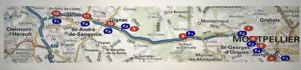 Hérault - nouvelle numérotation des échangeurs de l'autoroute A.750.