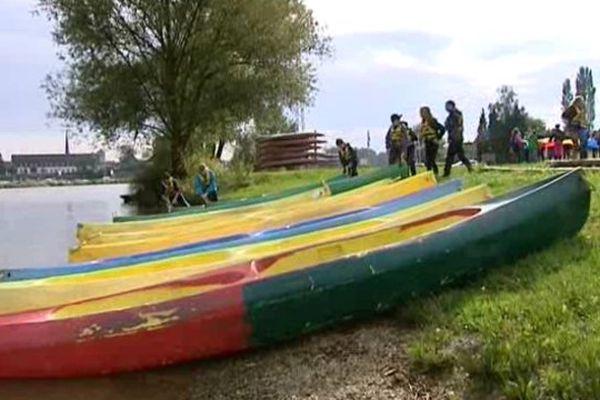 C'est à la base de plein air d'Auxonne que ces élèves de 6e vivent ensemble pendant 4 jours.
