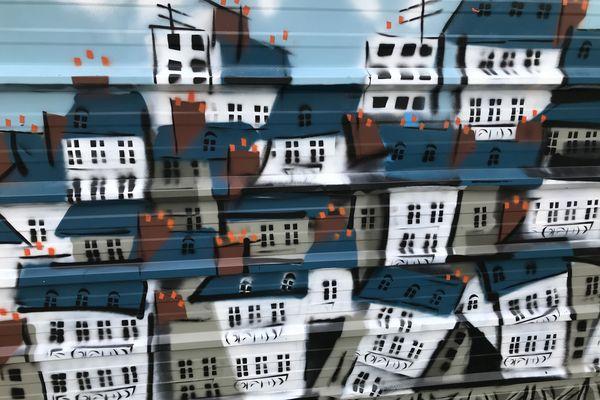 Sur le thème du logement, les artistes ont laissé libre court à leur imagination
