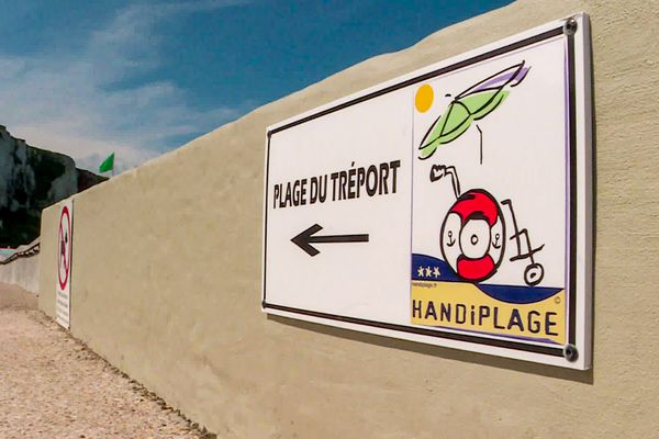 La Tréport vient d'obtenir le label Handiplage, une première en Seine-Maritime.