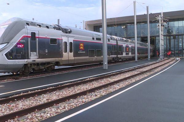 15 janvier 2020 : arrivée d'un train Omneo Bombardier en gare de Sotteville-lès-Rouen