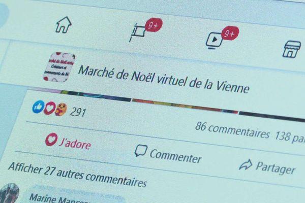 """La page Facebook du """"Marché de Noël virtuel"""" présente déjà le travail de plus de 500 créateurs locaux."""