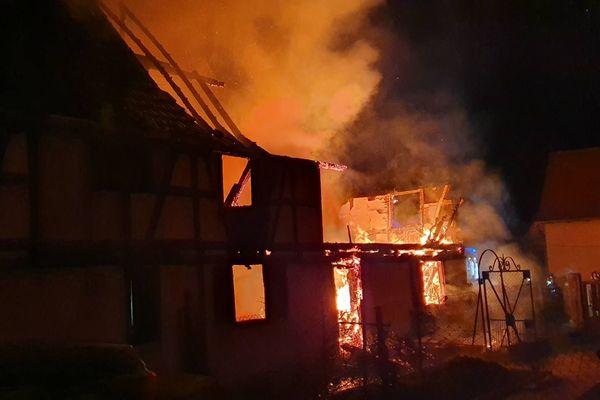 L'habitation a été totalement détruite.