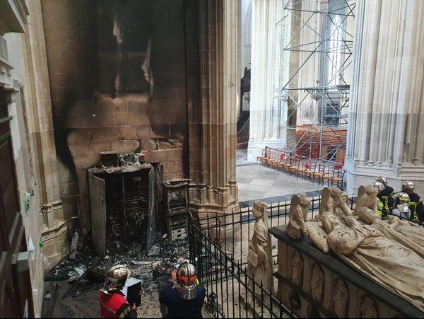 """Le tableau """"Saint Clair guérissant les aveugles"""" se situait au-dessus du tableau électrique qui a pris feu."""