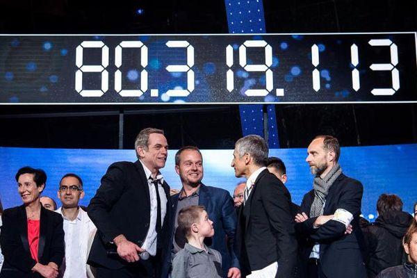La trentième édition du Téléthon a permis de récolter plus de 80 millions d'euros de promesses de dons