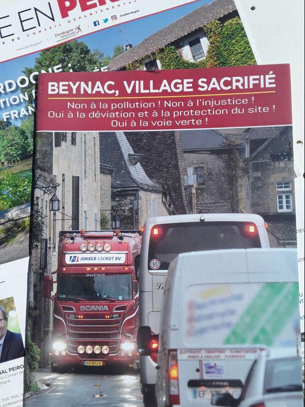 Le supplément du magazine départemental entièrement dédié à la défense de la déviation de Beynac cet été